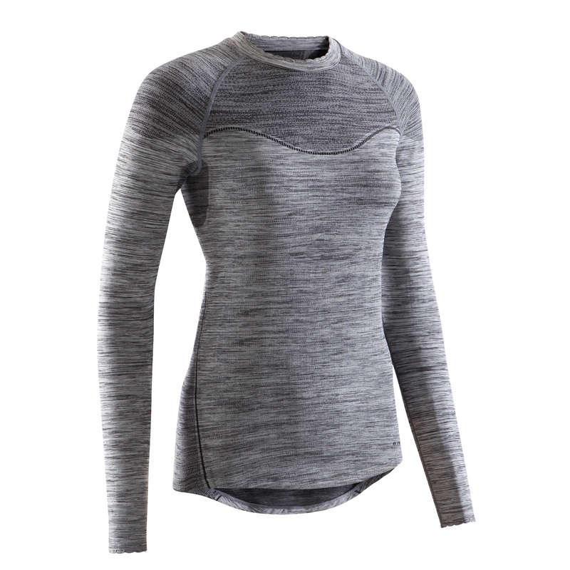 W COLD WEATHER ROAD CYCLING BASELAYER Clothing - RC 500 Women's Cycling Long Sleeve Base Layer - Black TRIBAN - By Sport