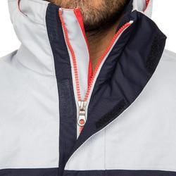 男款保暖航海外套100-灰色/藍色