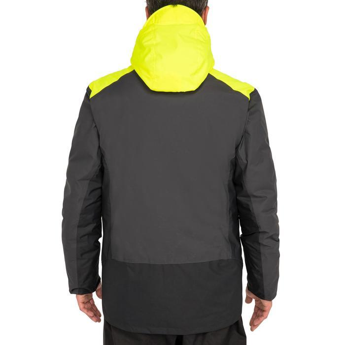 Chubasquero cálido de vela hombre 100 gris / amarillo