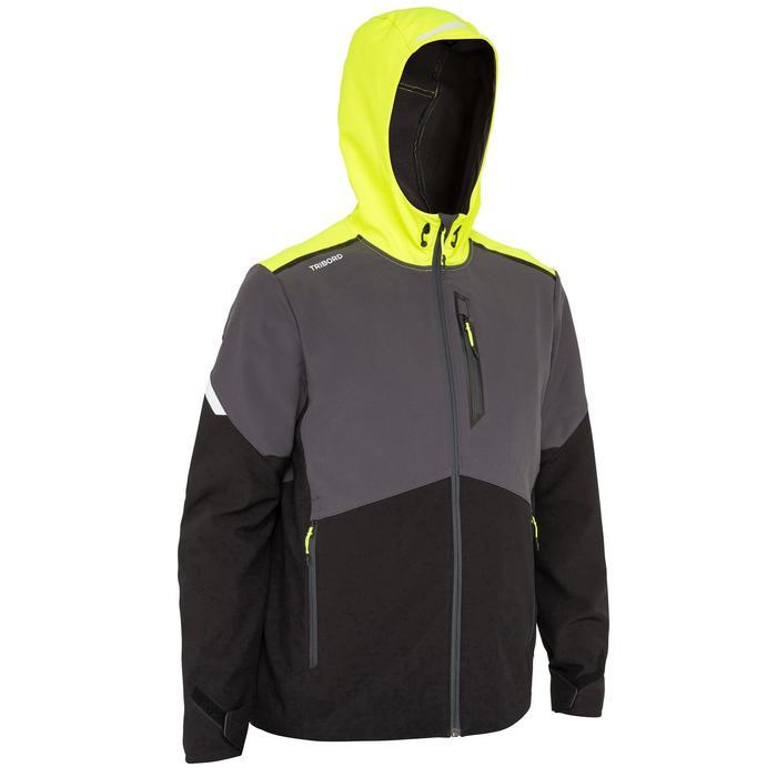 Softshell de regata hombre RACE negro amarillo fluorescente