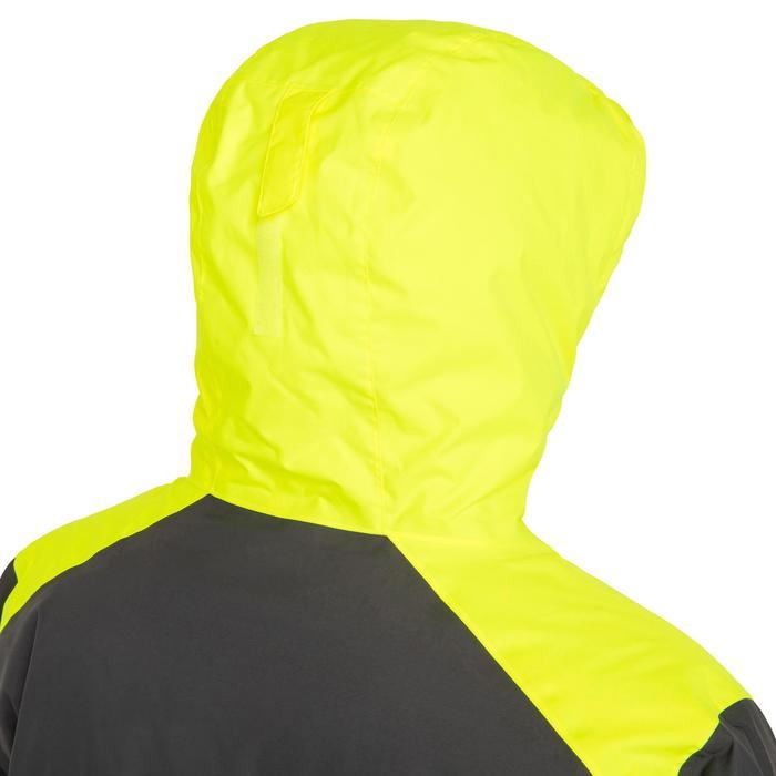 Segeljacke warm 100 Herren grau/gelb
