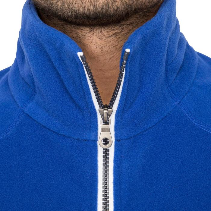 Zeilfleece heren Race driekleurig blauw/donkerblauw/grijs