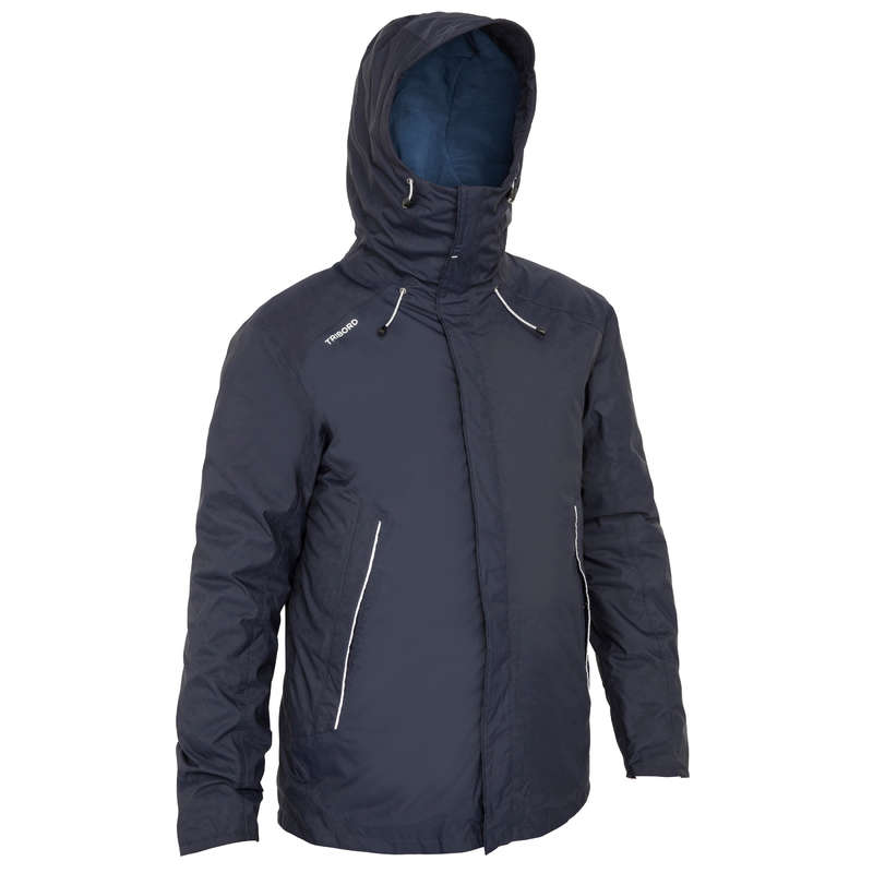 MAN SAILING COLD WTR WATERPROOF CLOTHES - 100 M Warm Oilskin - Navy Blue TRIBORD