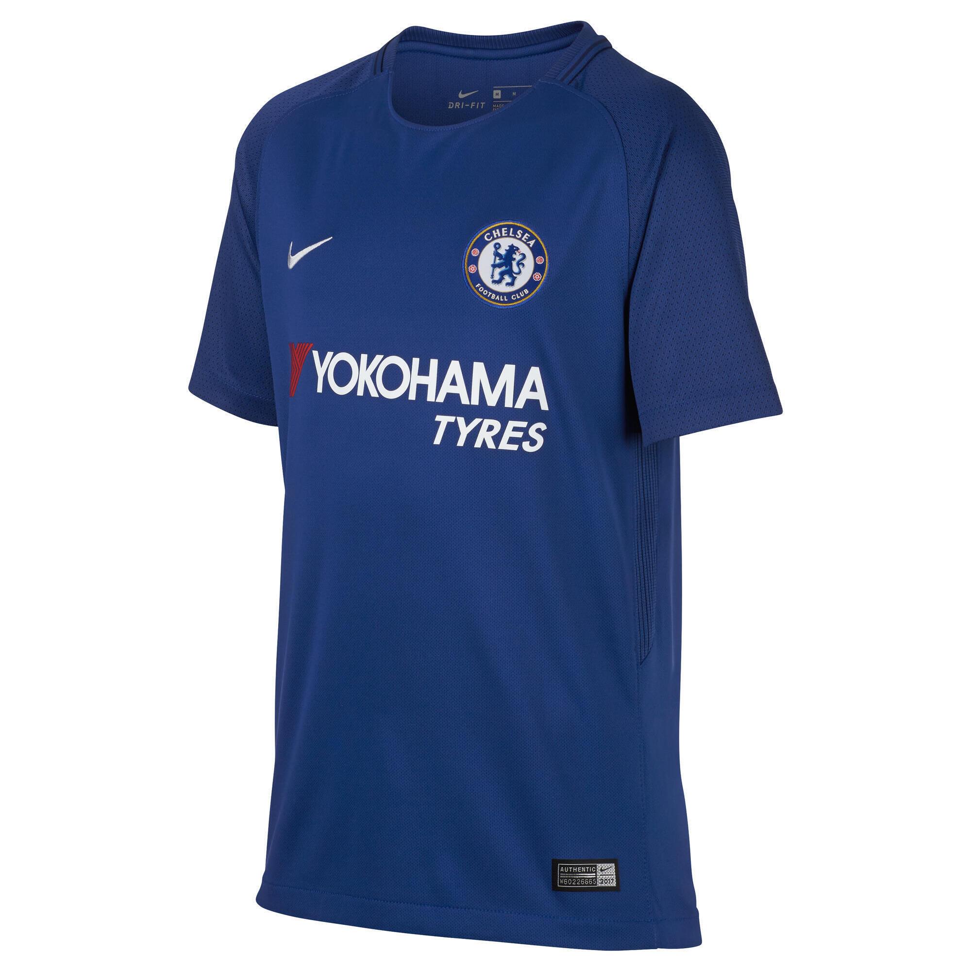 Jungen,Kinder,Kinder Fußballtrikot FC Chelsea Home Kinder blau   00885178529429