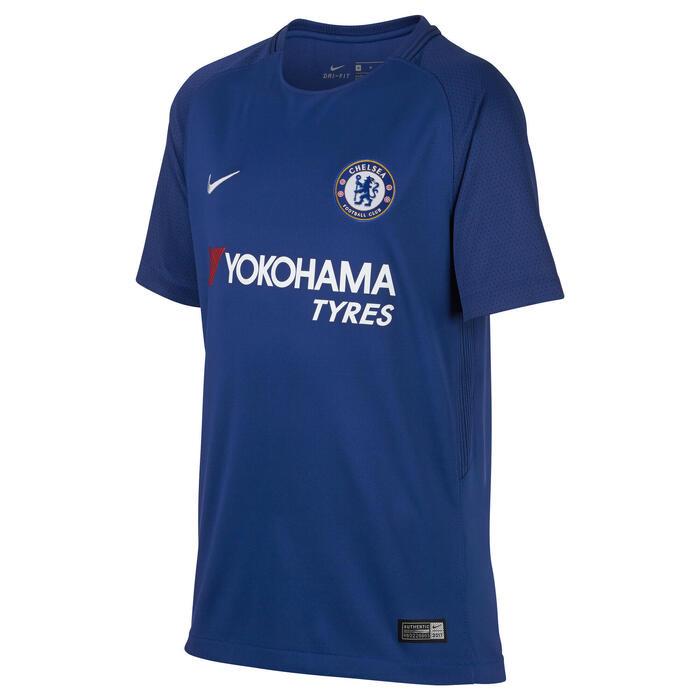 Voetbalshirt voor kinderen, replica thuisshirt Chelsea blauw