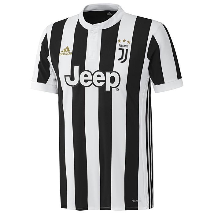 Maillot réplique de football adulte Juventus blanc noir