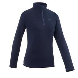 MH100 Classic Women's Mountain Hiking Fleece Jacket - Dark navy