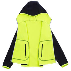 500 Kids' Sailing Fleece reversible - Blue neon