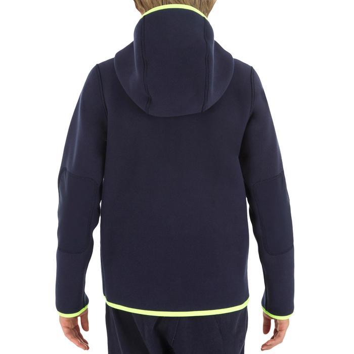 Omkeerbare kinderfleece 500 voor zeilen blauw / geel