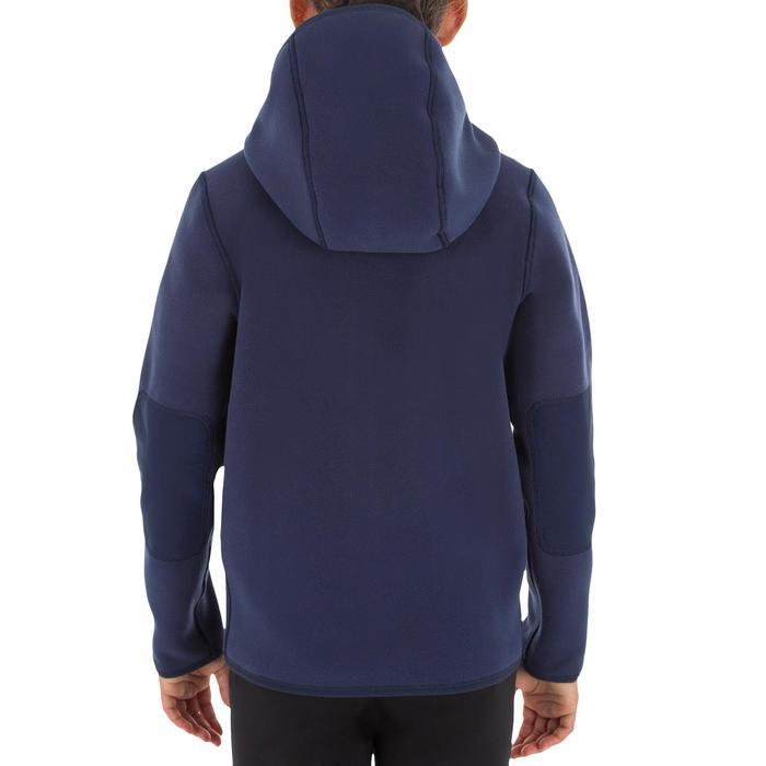 Omkeerbare fleece Zeilen voor kinderen, blauw / roze