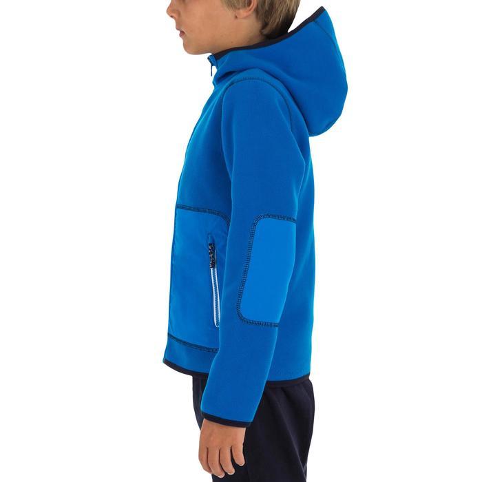 Omkeerbare zeilfleece voor kinderen 500 blauw/blauw