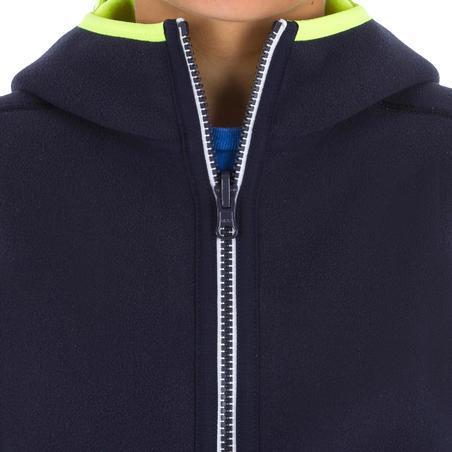 Polaire voile enfant 500 réversible Bleu fluo
