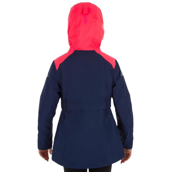 Segeljacke warm 100 Mädchen rosa/blau