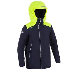 Warme zeiljas 100 voor jongens, blauw / geel