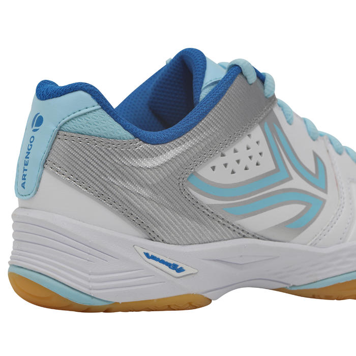 BS800 Women's Badminton and Squash Shoes - White/Blue - 1231993