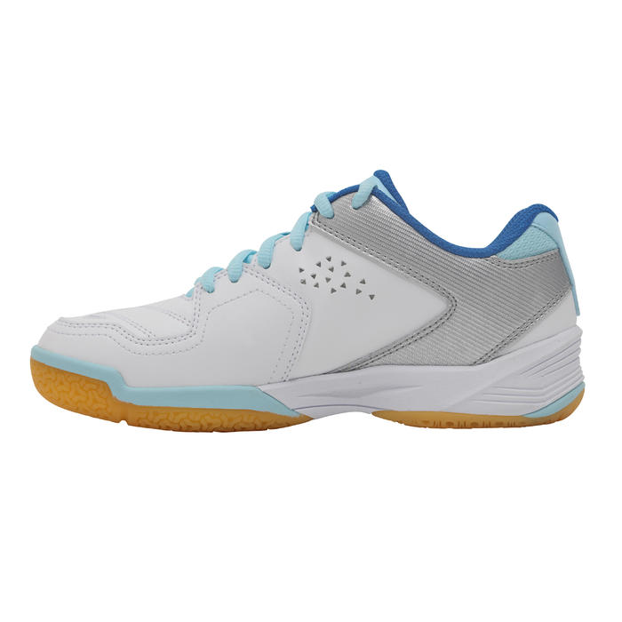BS800 Women's Badminton and Squash Shoes - White/Blue - 1231994