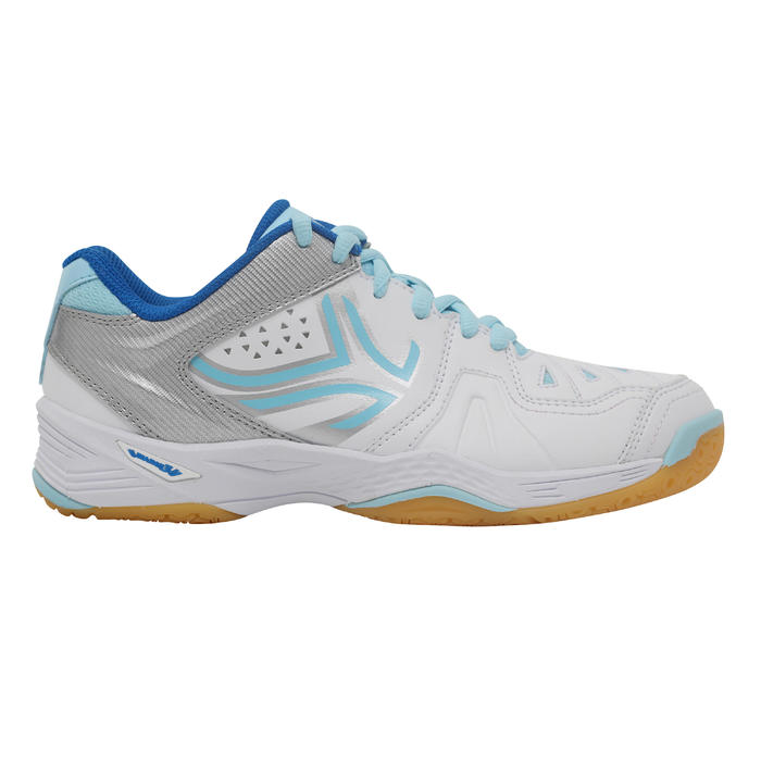 BS800 Women's Badminton and Squash Shoes - White/Blue - 1231995