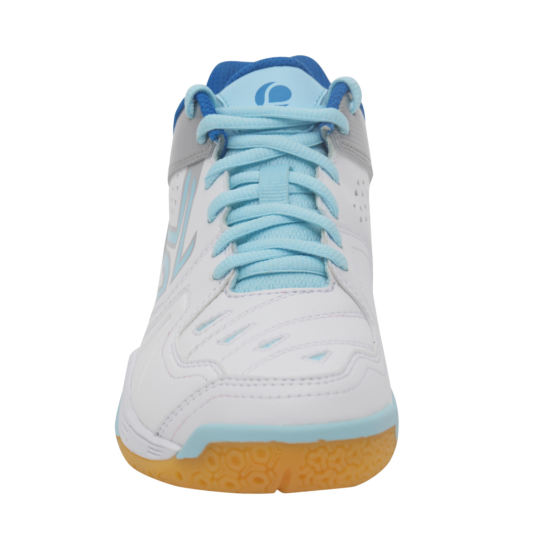Chaussures de BADMINTON et SQUASH ARTENGO BS800 FEMME blanc et bleu