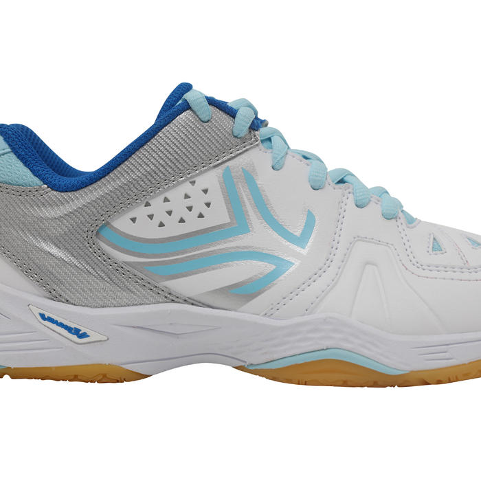 BS800 Women's Badminton and Squash Shoes - White/Blue - 1231999