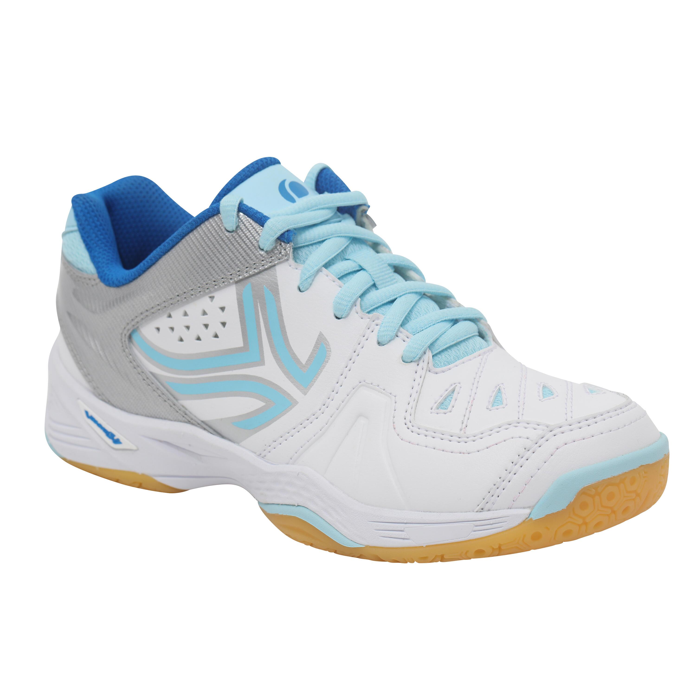 Artengo Schoenen voor badminton/squash Artengo BS800 Lady wit/blauw
