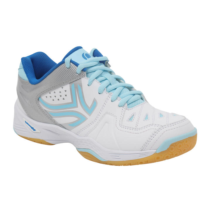 BS800 Women's Badminton and Squash Shoes - White/Blue - 1232001