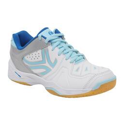Schoenen voor badminton/squash Artengo BS800 Lady wit/blauw