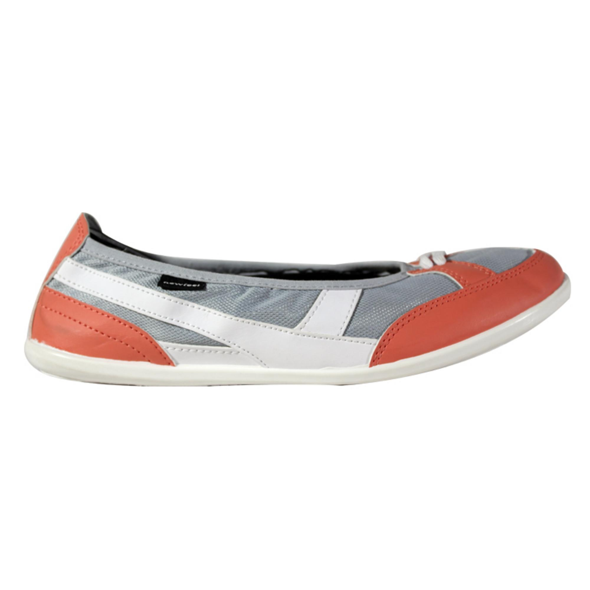 Walking shoes for women ballerina - Grey orange