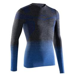 Ondershirt voor voetbal lange mouwen volwassenen Keepdry 500 blauw