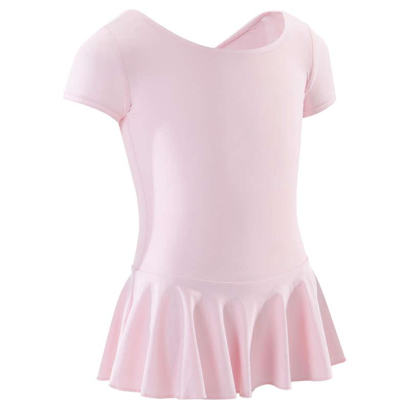 ABBIGLIAMENTO DANZA CLASSICA BAMBINA Danza classica - Body bambina danza 100 rosa DOMYOS - Danza classica