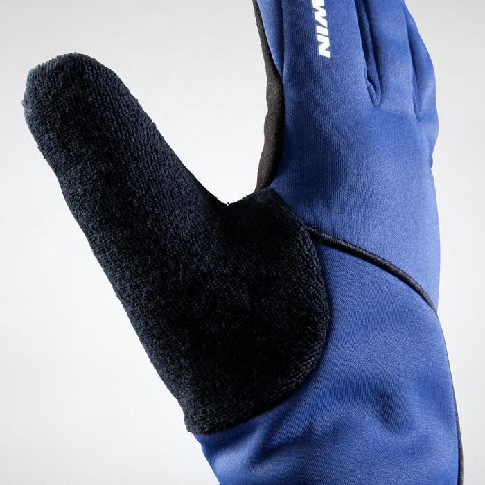 Fahrrad-Handschuhe Herbst 500 marineblau