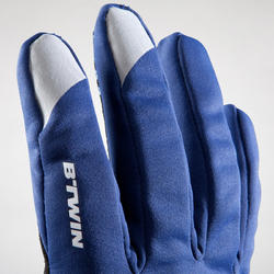 500 Winter Cycling Gloves - Blue/Navy