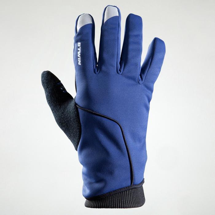 Fahrrad-Winterhandschuhe 500 marineblau