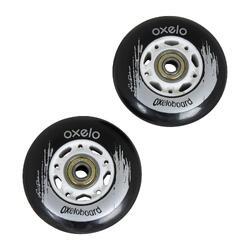 Waveboard wielen zwart 2 stuks
