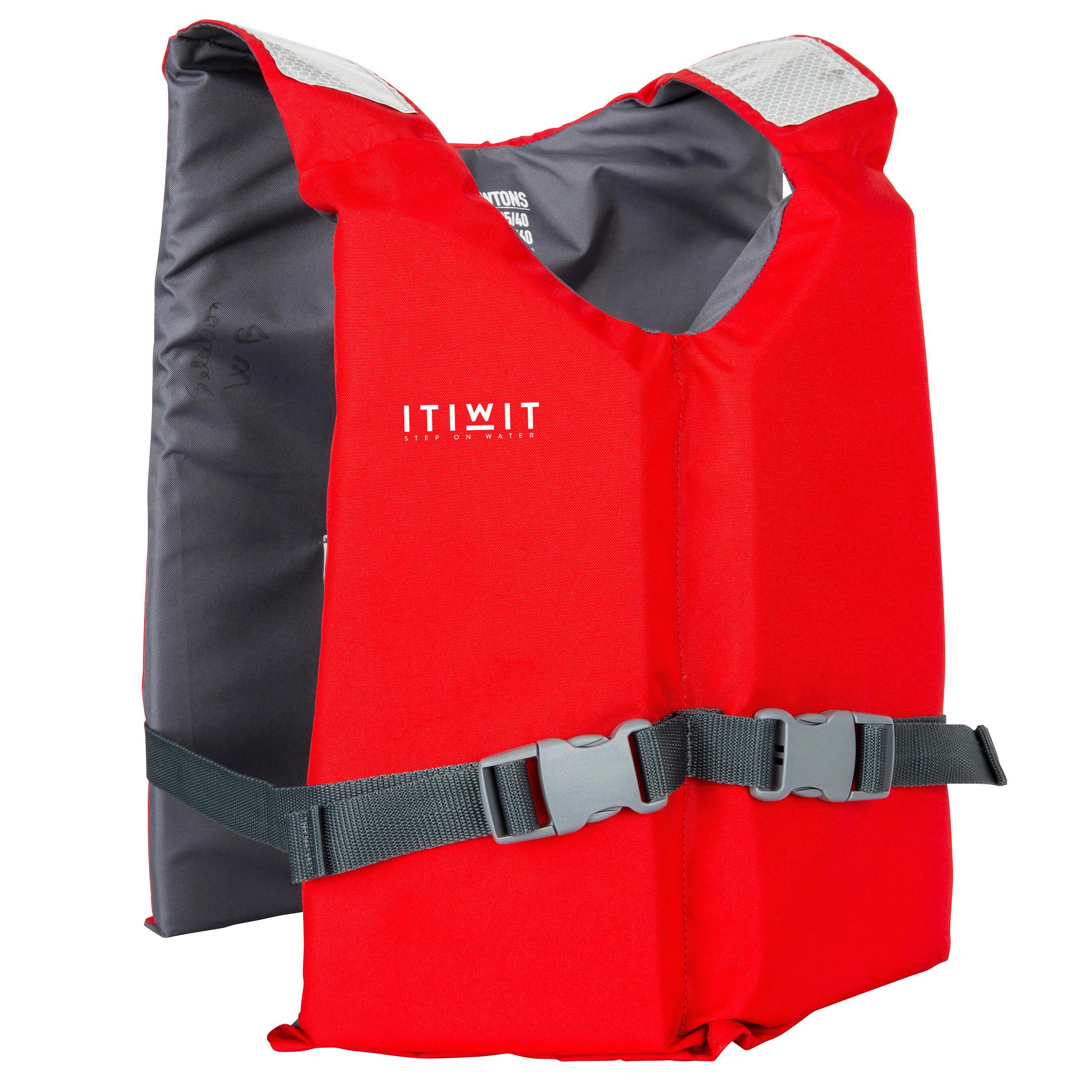 Gilet d'aide à la flottabilité BA 50 N Rouge kayak planche à rame dériveur