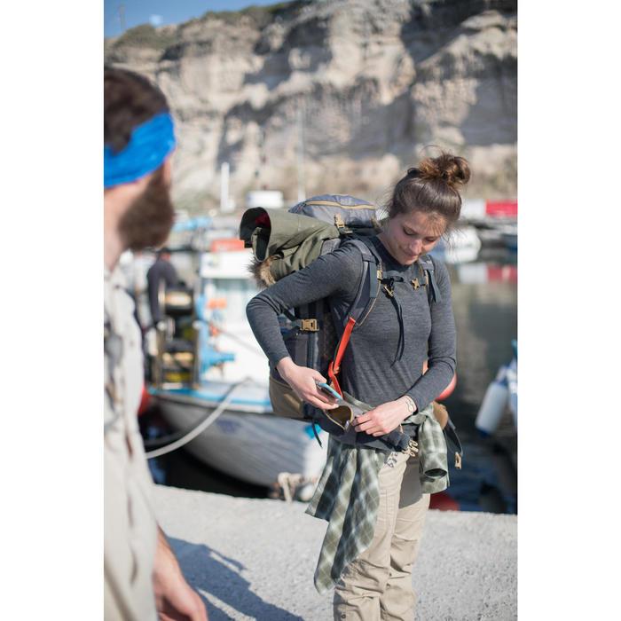 T-shirt manches longues trekking Techwool 155 laine femme - 1232403