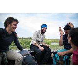 Pantalón de Montaña y Trekking Viaje Forclaz Travel 100 Warm Hombre Gris