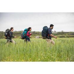 Camiseta manga larga trekking TRAVEL 500 lana merina mujer rosa
