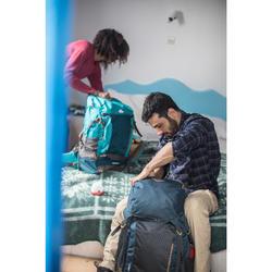 Rugzak voor backpacken heren Travel 500 70 liter blauw