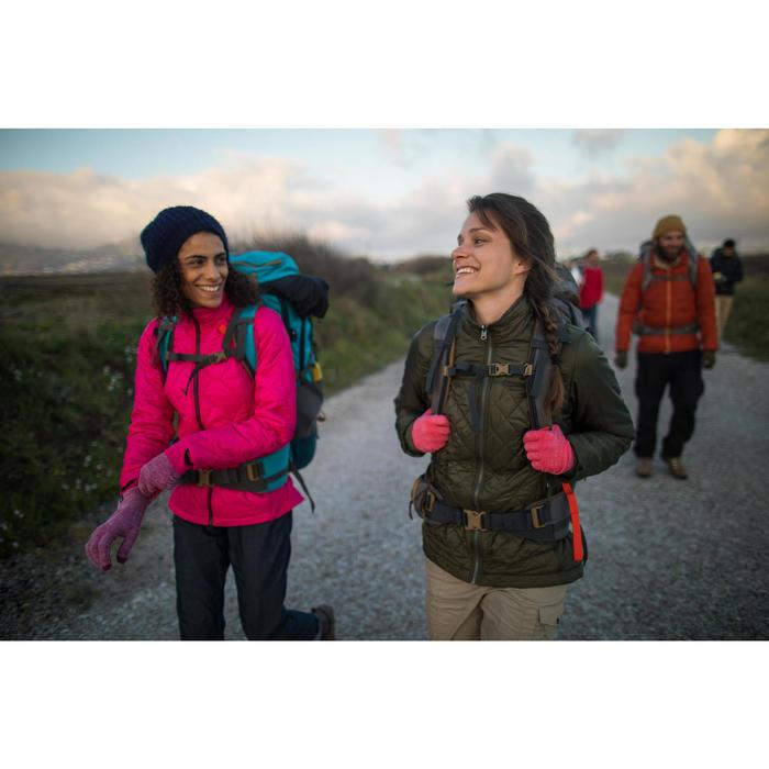 Chaqueta trekking Rainwarm 300 3 en 1 mujer caqui
