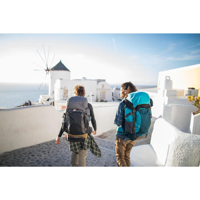 Chemise trekking voyage TRAVEL 100 warm femme carreaux - 1232445