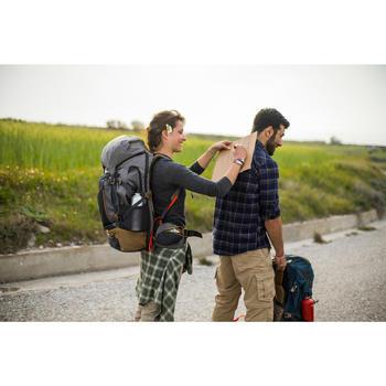 Chemise trekking voyage TRAVEL 100 warm femme carreaux - 1232456