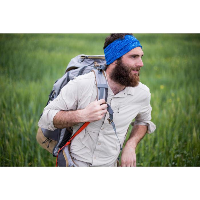 登山健行多功能圍脖Trek 100-藍色