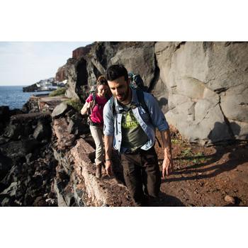 Pantalón de Montaña y Trekking Viaje Forclaz Travel 100 Warm Hombre Marrón