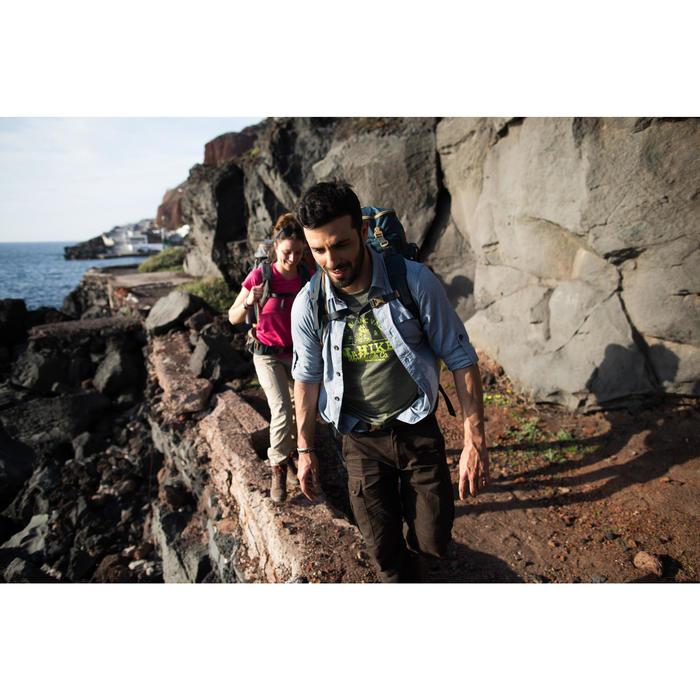 Trekkingbroek Travel 100 warm heren bruin