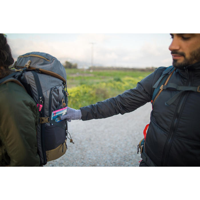 Onderhandschoenen voor bergwandelingen Trek 500 grijs