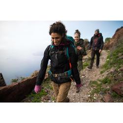 Touchscreen handschoenen voor bergtrekking Trek 500 paars uniseks