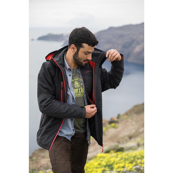 Chaqueta trekking Rainwarm 500 3 en 1 hombre negro