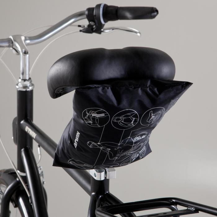 Fahrrad-Regenponcho City 500 schwarz/gelb
