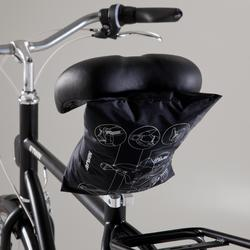 Fahrrad-Regenponcho City 500 schwarz