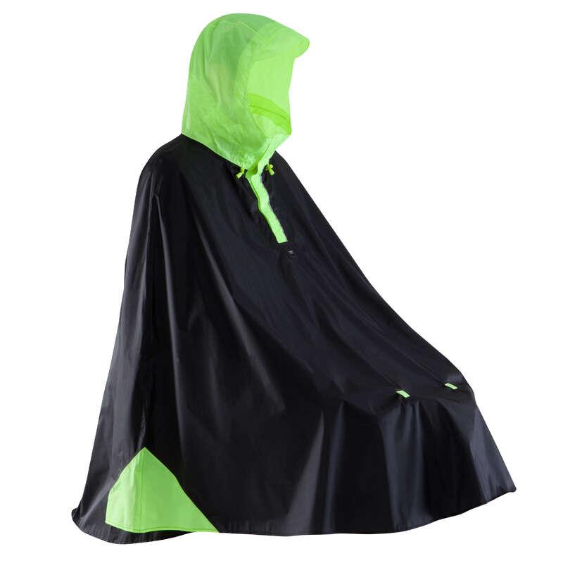 RAIN WEATHER CITY CYCLING APPAREL & ACC Clothing - 500 Cycling Rain Poncho Black BTWIN - By Sport